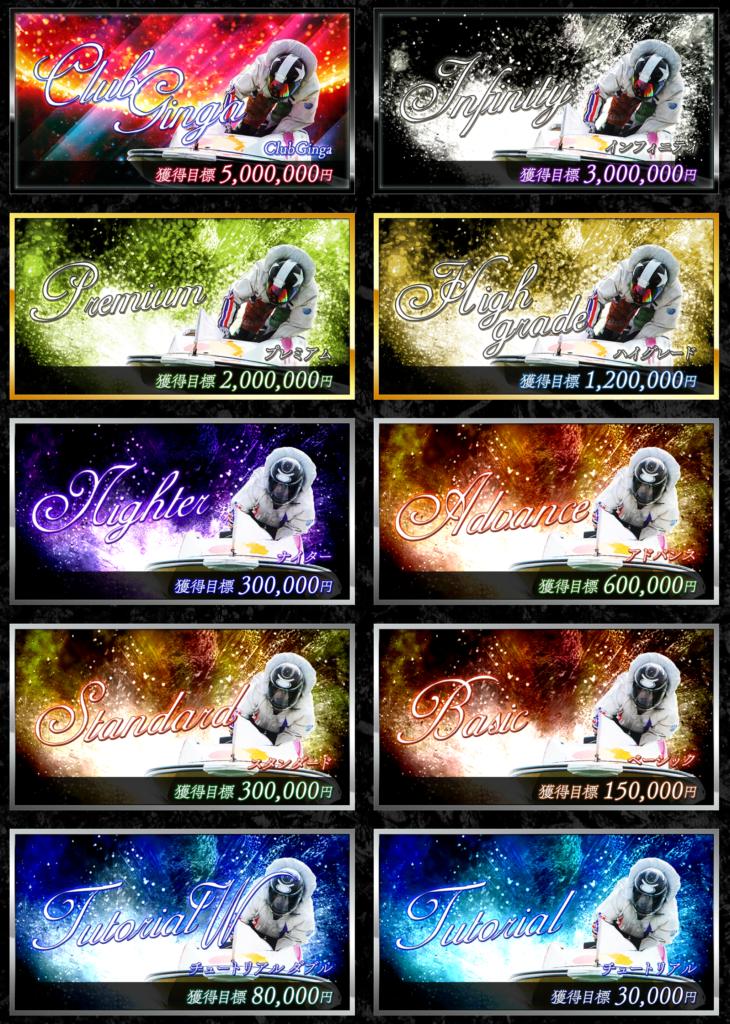 ClubGinga(クラブ銀河) 商品ラインナップ